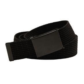 H&H Men's Web Striped Belt