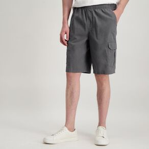 H&H Men's Elasticated Waist Cargo Shorts