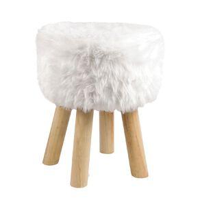 Living & Co Foot Stool Faux Fur