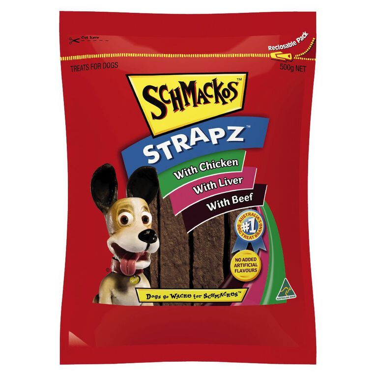 Schmackos Strapz Dog Treats Variety Pack 500g, , hi-res