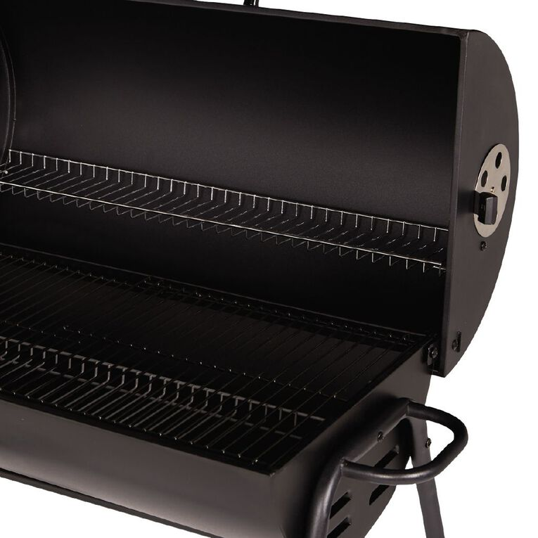 Gascraft Oil Drum Charcoal BBQ with Cover, , hi-res