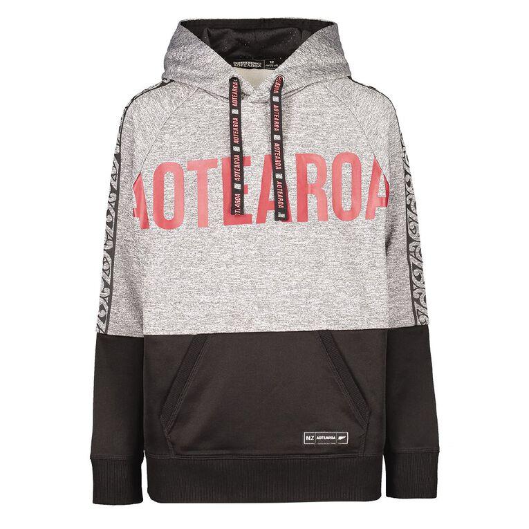 Active Intent Boy's Printed Sweatshirt, Charcoal, hi-res