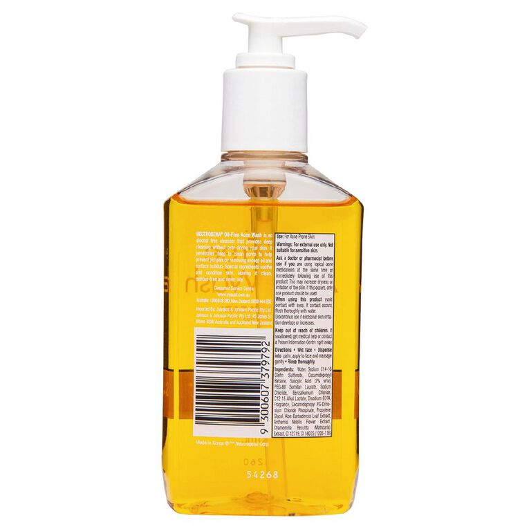 Neutrogena Oil Free Acne Wash 175mL, , hi-res