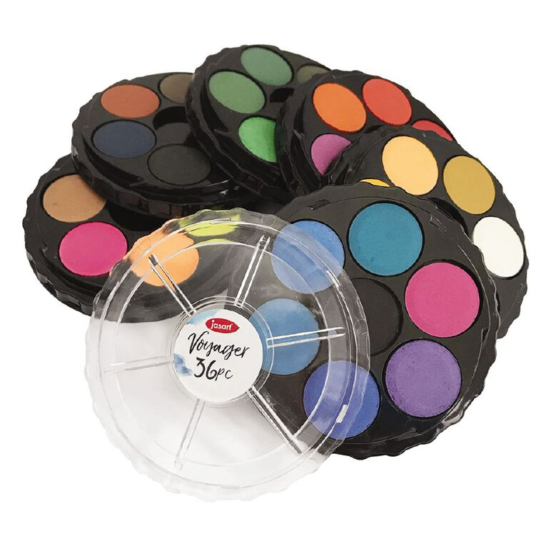 Jasart Voyager Watercolour Discs Set 36, , hi-res