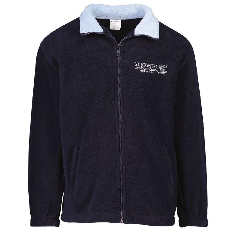 Schooltex St Joseph's Onehunga Polar Fleece Jacket with Embroidery, Navy/Sky, hi-res