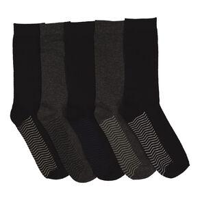 H&H Men's Sole Design Business Socks 5 Pack