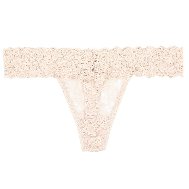 H&H Women's Poppy Lace G-String, Rose Gold, hi-res