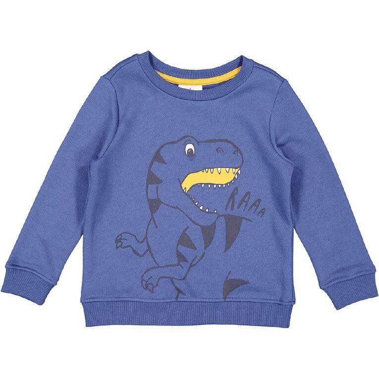 Young Original Toddler Printed Sweatshirt, Blue Mid, hi-res