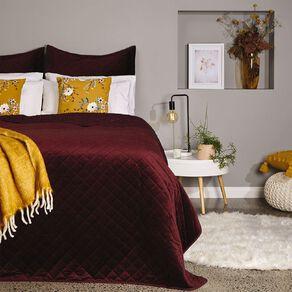 Living & Co Pillowcase Euro Velvet Pinsonic Wine 65cm x 65cm