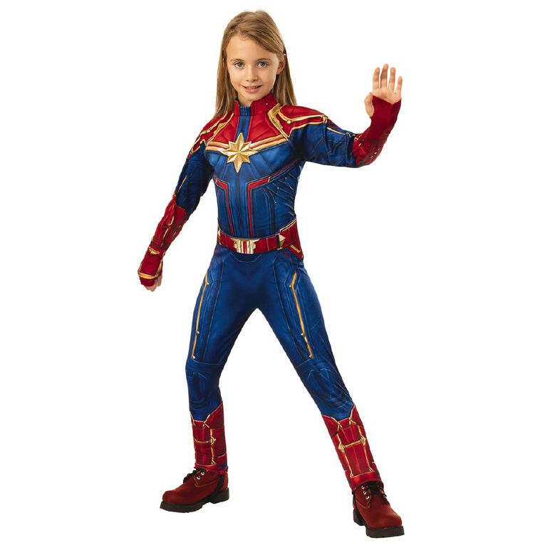 Avengers Captain Marvel Classic Hero Suit Size 3-5, , hi-res