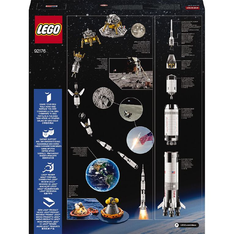 LEGO Ideas NASA Apollo Saturn V 92176, , hi-res