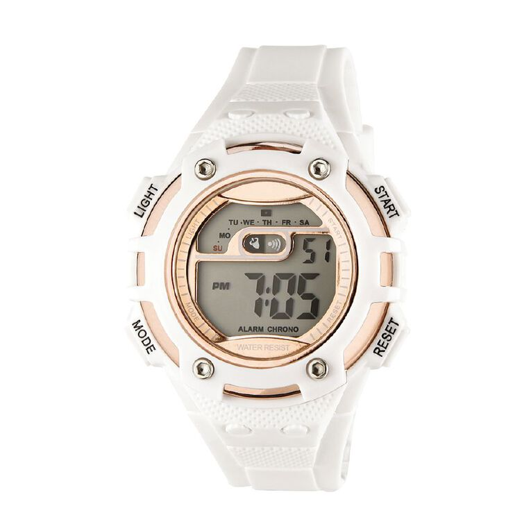Active Intent Women's Sports Digital Watch White Rose Gold, , hi-res