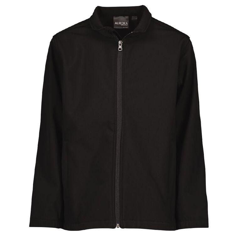 Schooltex Kids' 3K Softshell Jacket, Black, hi-res