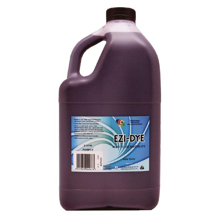 Fivestar Ezidye Painting Dye Purple 2 Litre, , hi-res