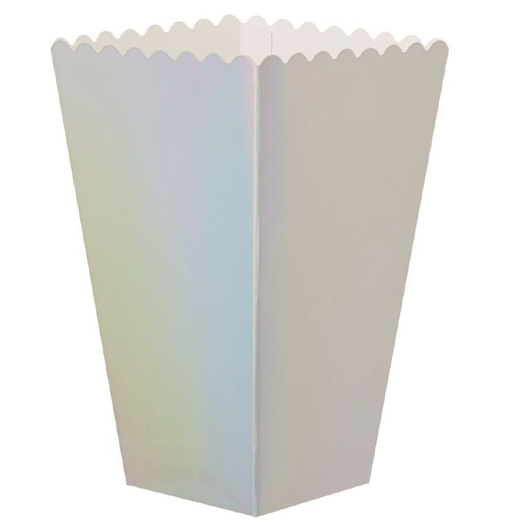 Party Inc Popcorn Boxes Iridescent 8 Pack, , hi-res