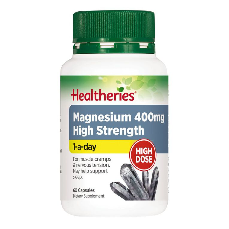 Healtheries Magnesium High Strength 400mg 60s, , hi-res