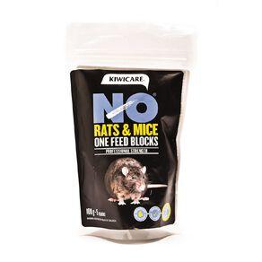 Kiwicare NO Rats & Mice One Feed Bait Blocks 100g