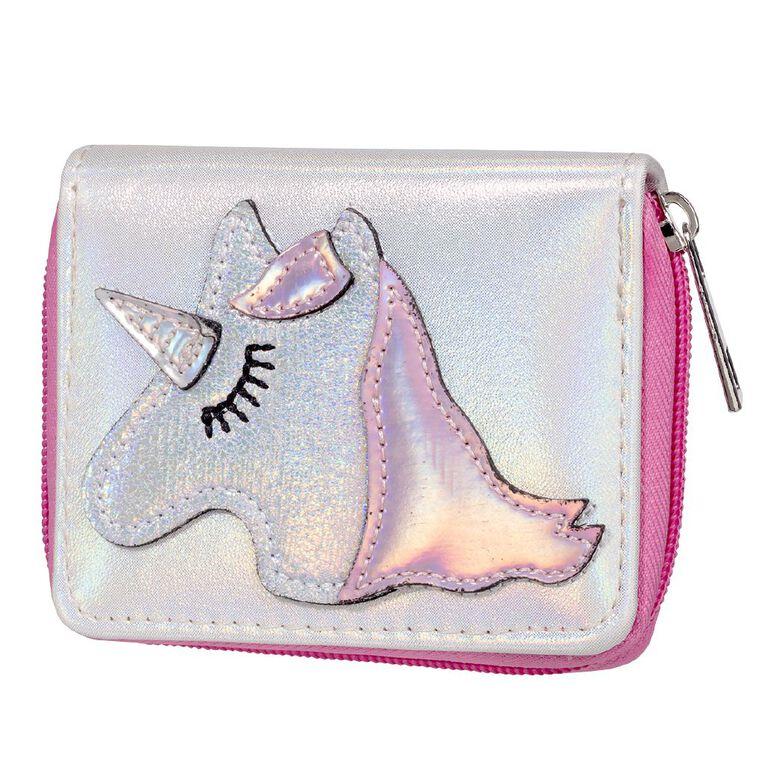 Kids' Unicorn White Pink Wallet, , hi-res