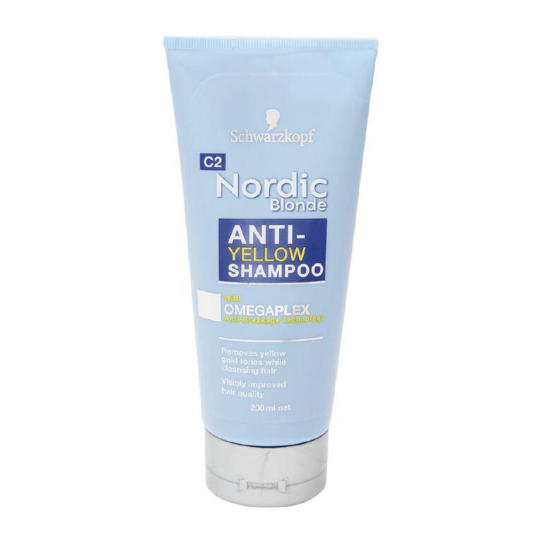 Schwarzkopf Nordic Anti-Yellow Blonde Shampoo 200mL, , hi-res