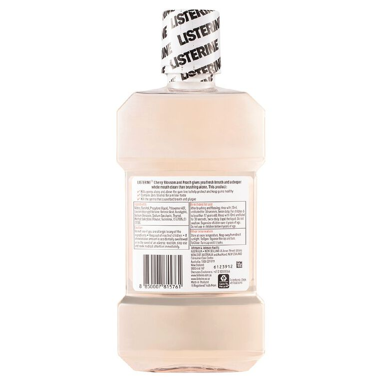 Listerine Mouthwash Limited Edition Cherry Blossom & Peach 500ml, , hi-res