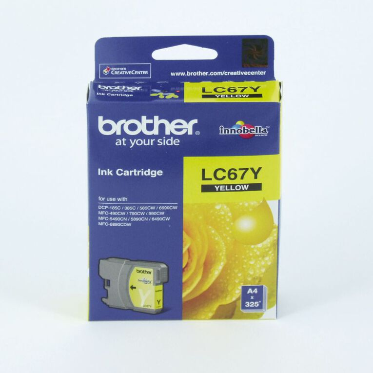 Brother Ink LC67 Yellow (325 Pages), , hi-res