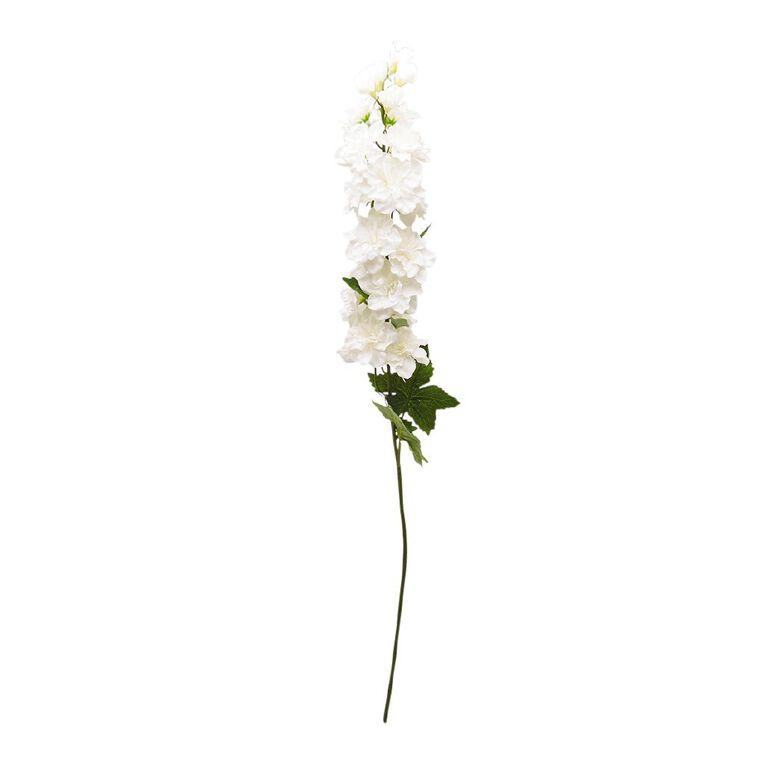 Living & Co Artificial Delphinium Stem Ivory 75cm, , hi-res