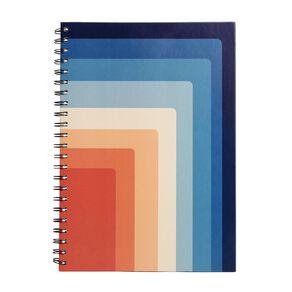 Uniti Fun & Funky Notebook Hardcover Retro Multi-Coloured A4
