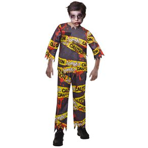 Amscan Caution Zombie Kids Costume 7-8 Years