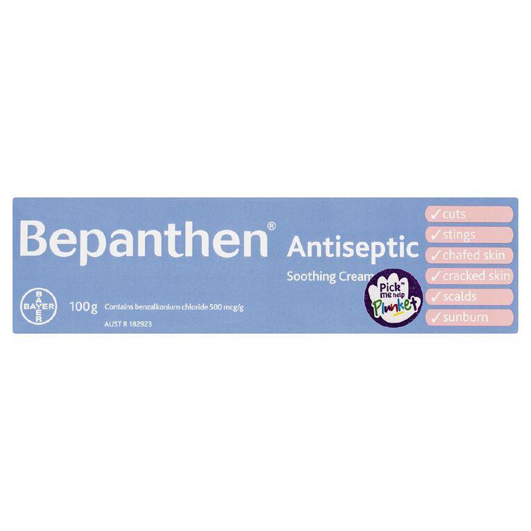 Bepanthen Antiseptic Cream For Nappy Rash Cuts Scalds Stings Sunburn100g, , hi-res