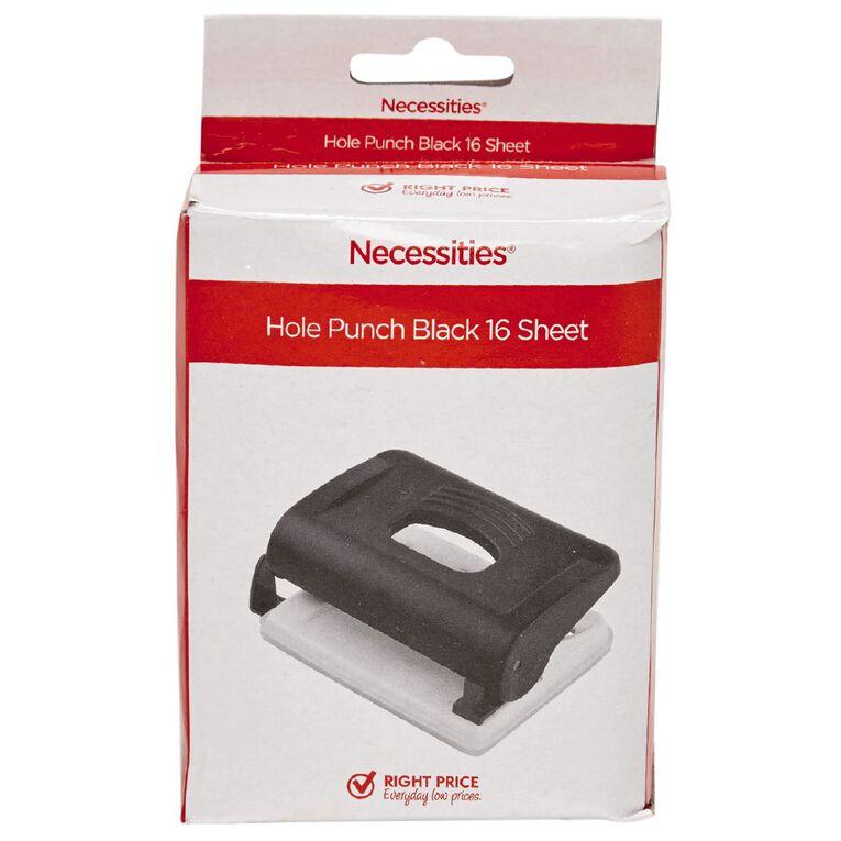 Impact Hole Punch 16 Sheet Black, , hi-res
