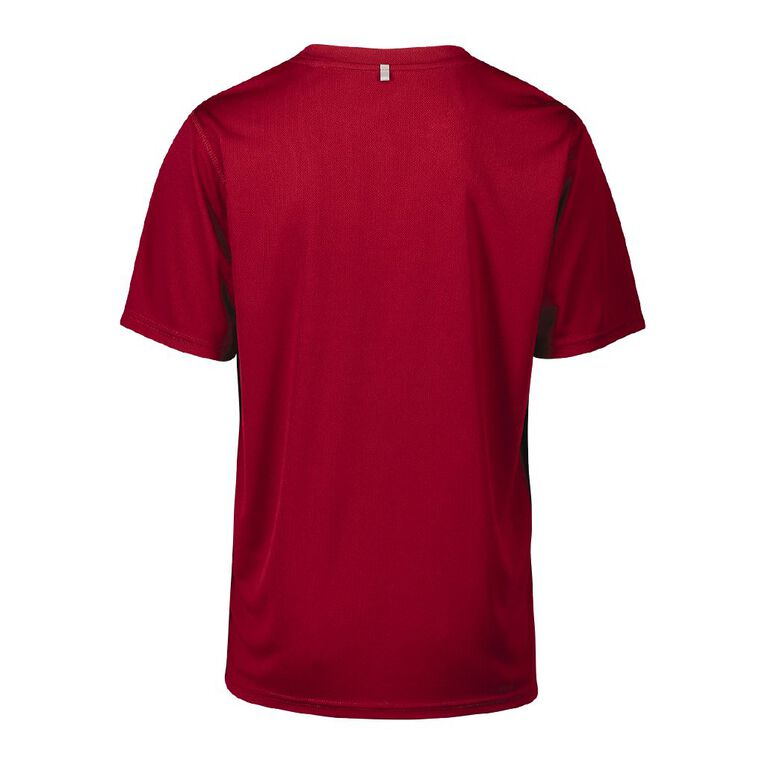 Active Intent Men's Supporter Printed Tee, Red Dark, hi-res