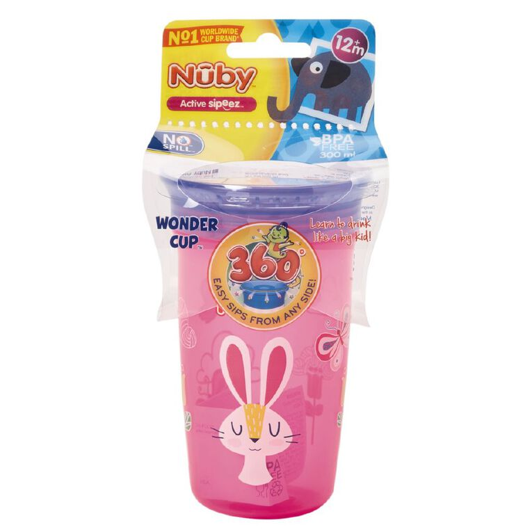 Nuby 360 Cup 300ml Assorted, , hi-res