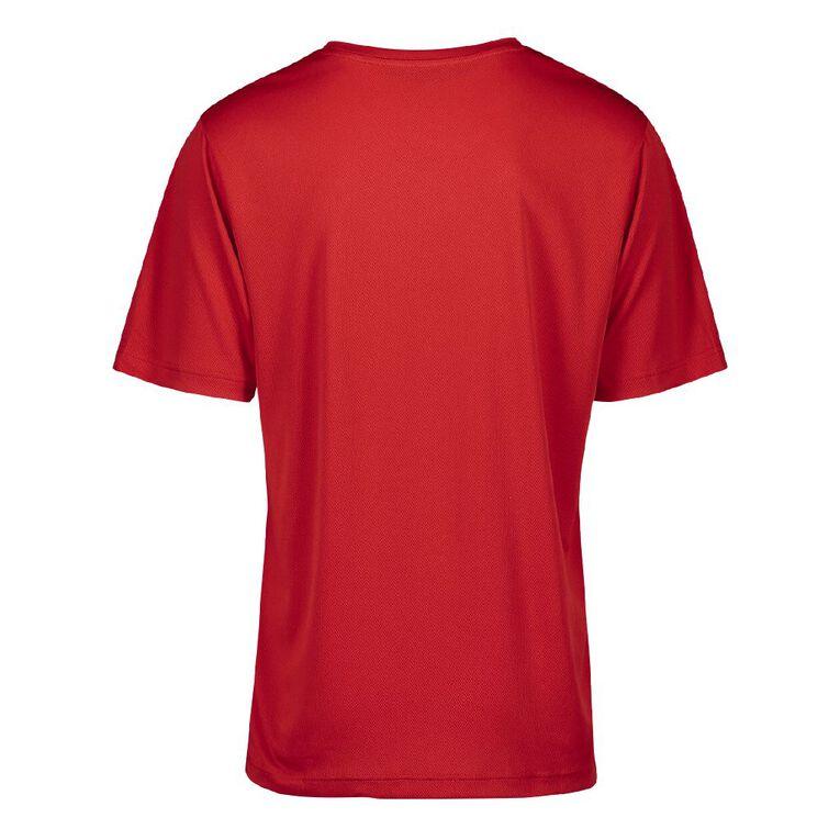 Active Intent Men's Printed Tee, Red Mid, hi-res