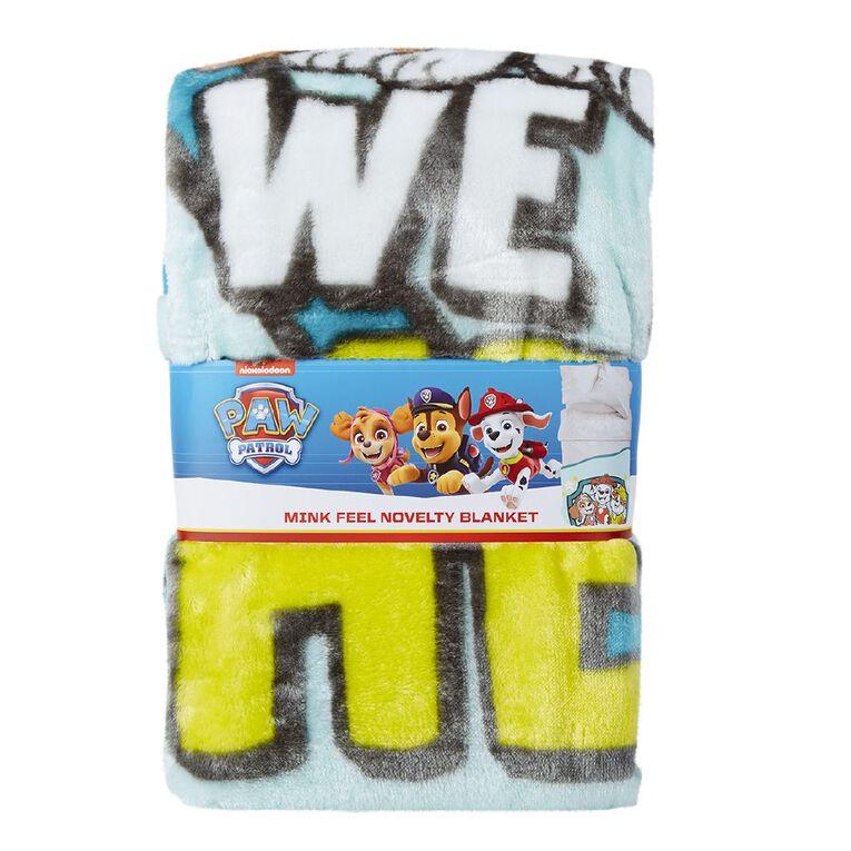 Paw Patrol Blanket Mink Heroes Blue 150cm x 200cm, , hi-res
