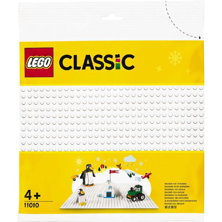LEGO Classic White Baseplate 11010, , hi-res