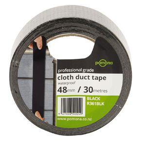 Pomona Waterproof Cloth Tape 48mm x 30m Black