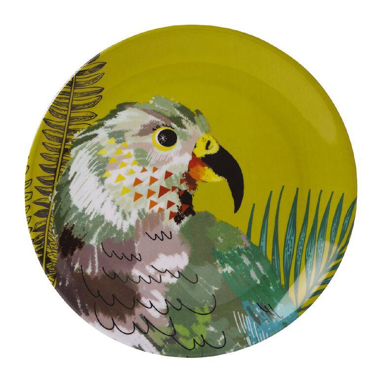 Living & Co Printed Melamine Plate Kea Multi-Coloured, , hi-res