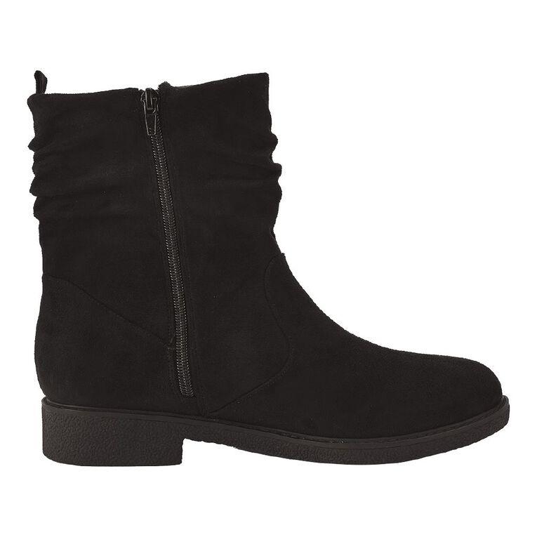 H&H Women's Slouch Boots, Black, hi-res