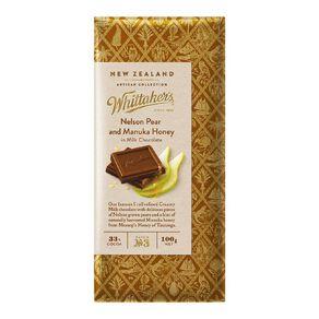 Whittaker's Nelson Pear and Manuka Honey 100g