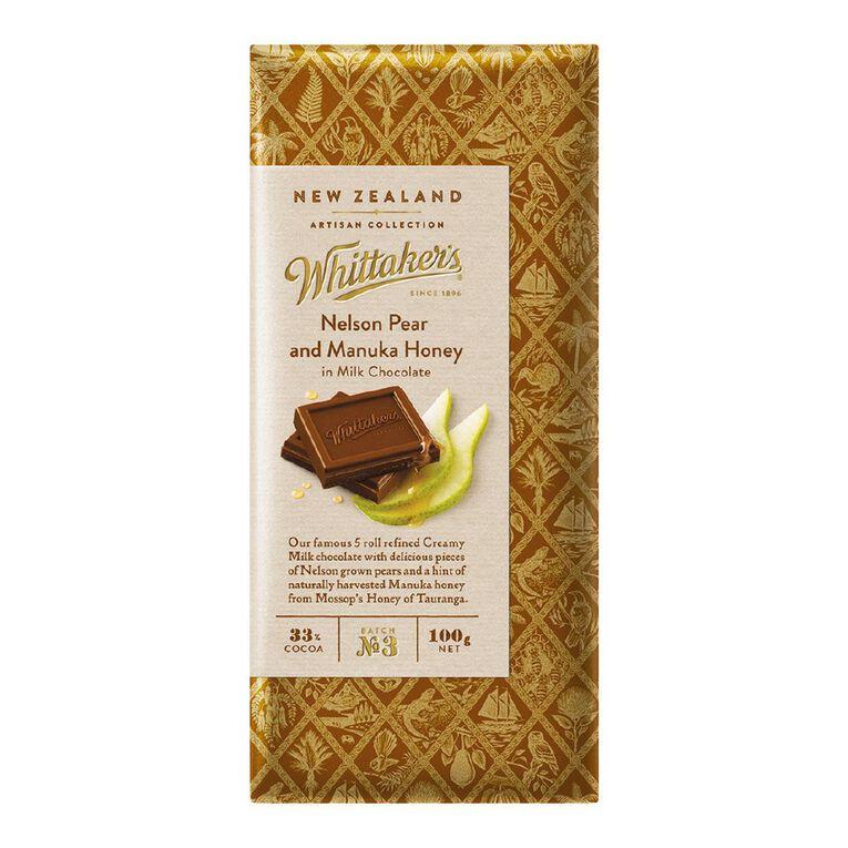Whittaker's Nelson Pear and Manuka Honey 100g, , hi-res