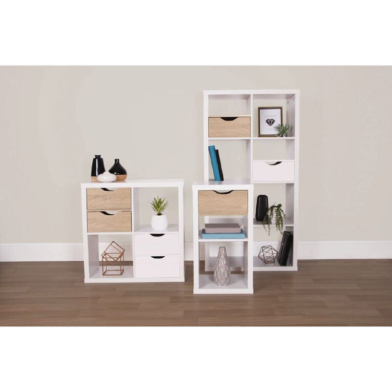 Living & Co Valencia Cube Storage Shelf Insert Oak, , hi-res