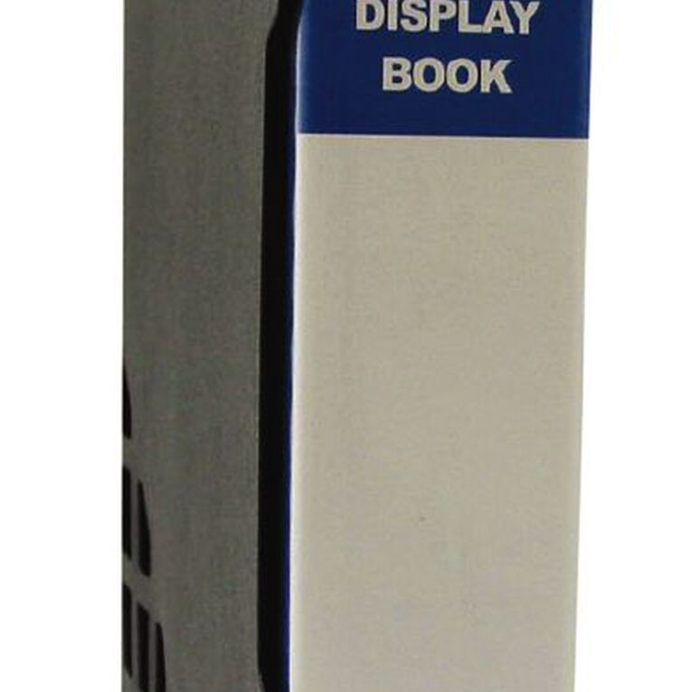 GBP Stationery Blue 80 Pocket Display Book With Black Case A4, , hi-res