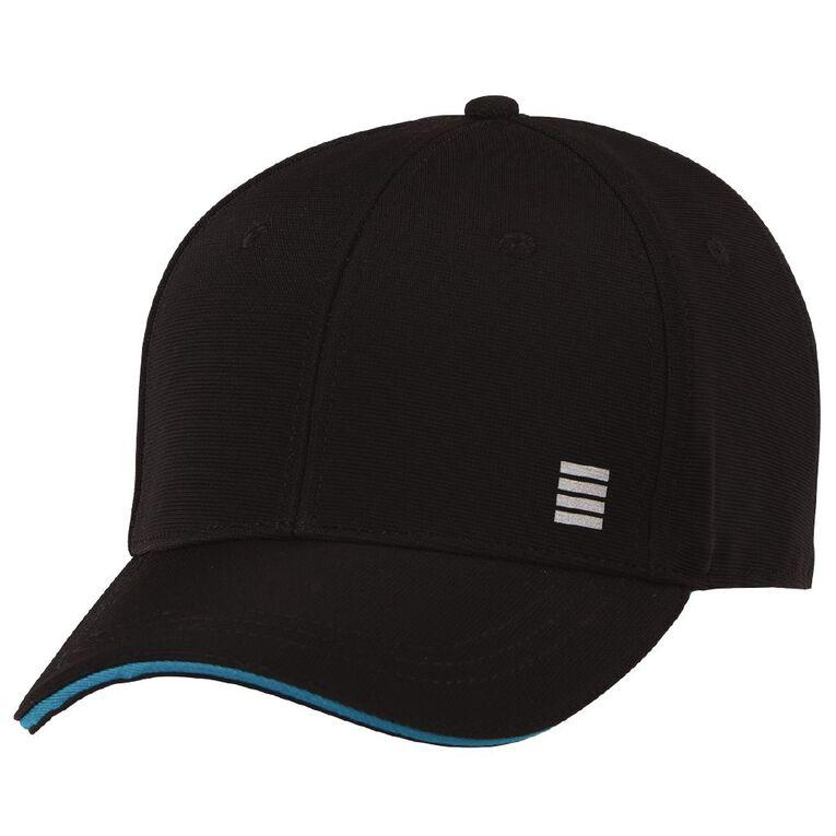 Active Intent Men's Sports Cap, Black, hi-res