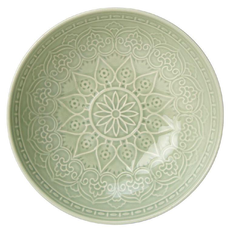 Living & Co Glazed Moroccan Bowl Sage Green, , hi-res