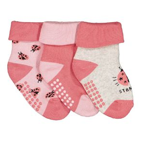 H&H Infant Girls' Terry Bootie 3 Pack