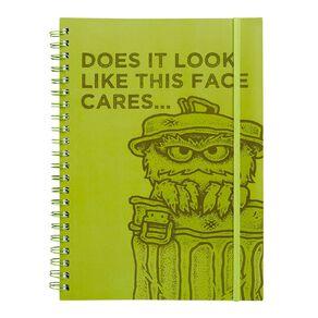 Sesame Street Softcover Project Notebook Oscar A4