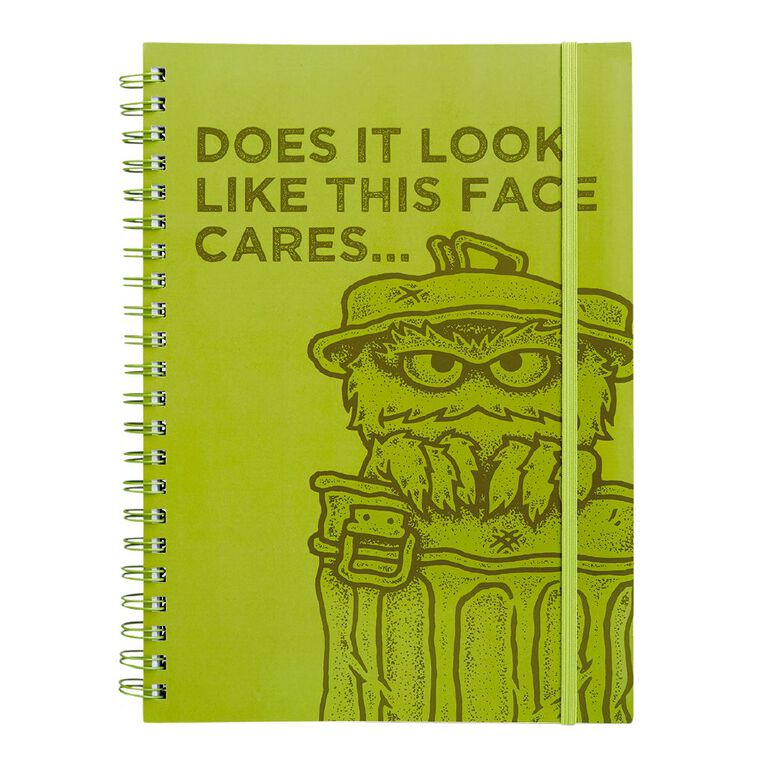 Sesame Street Softcover Project Notebook Oscar A4, , hi-res