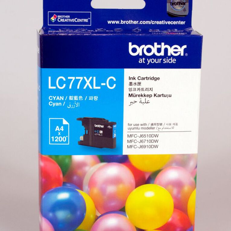 Brother Ink LC77XL Cyan (1200 Pages), , hi-res