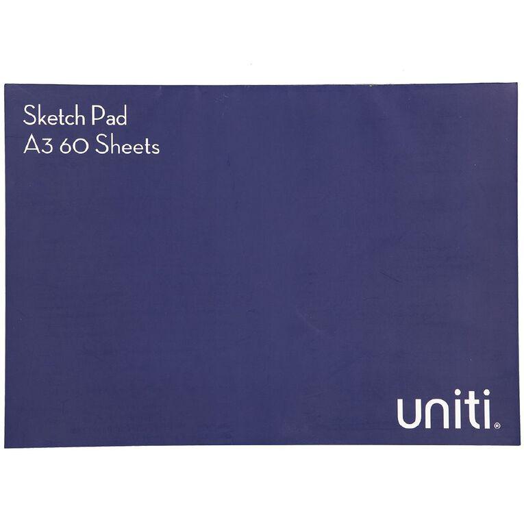 Uniti Sketch Pad 60 Sheets A3, , hi-res