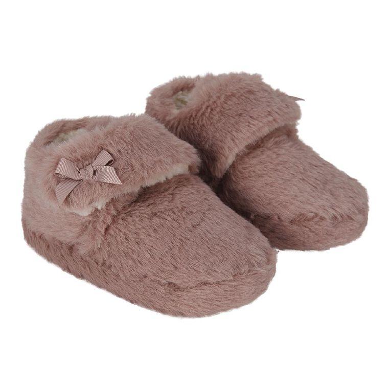 Young Original Girls' Fluffy Slipper, Pink, hi-res